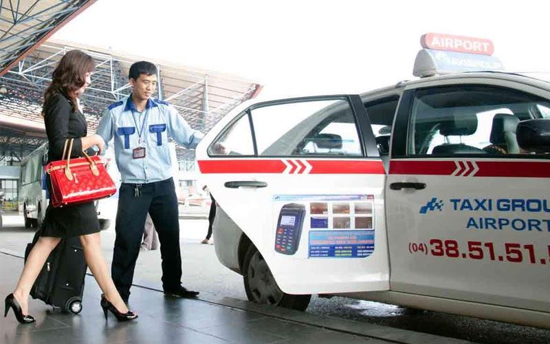Taxi ở sân bay Nội Bài (Nguồn ảnh: Internet)
