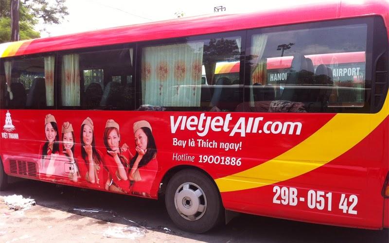 Xe đưa đón sân bay của Vietjet Air (Nguồn ảnh:Internet)
