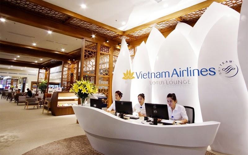 Phòng chờ Vietnam Airlines Lotus Lounge (Nguồn ảnh: Internet)